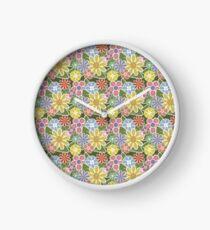 Funky Flowers Clock