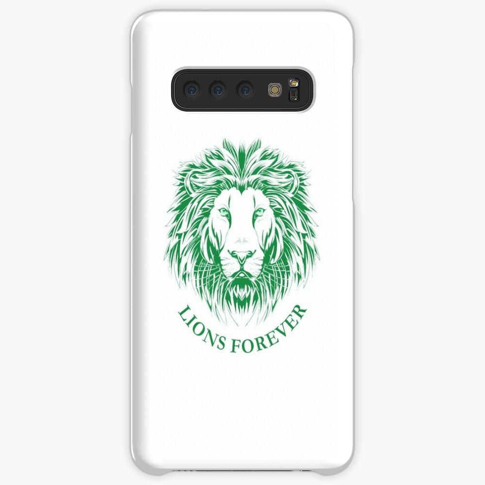 Lions Forever (Grün auf Weiß) Hülle & Klebefolie für Samsung Galaxy
