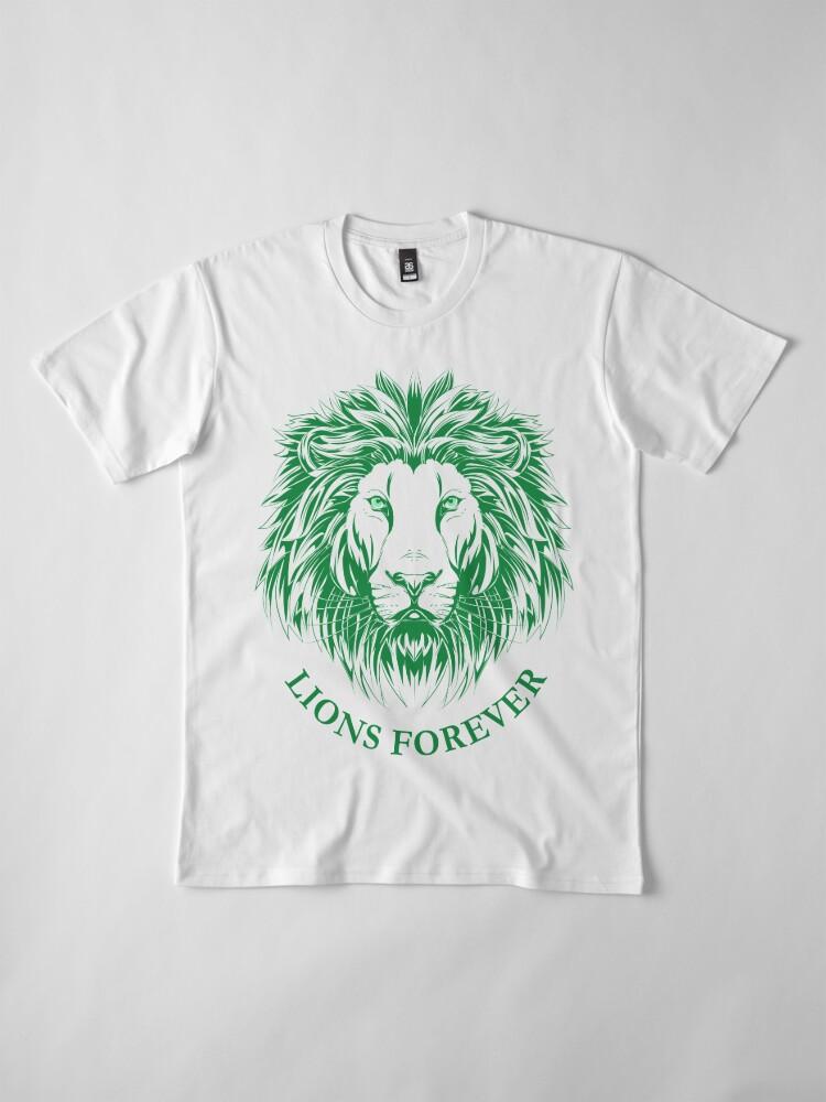 Alternative Ansicht von Lions Forever (Grün auf Weiß) Premium T-Shirt