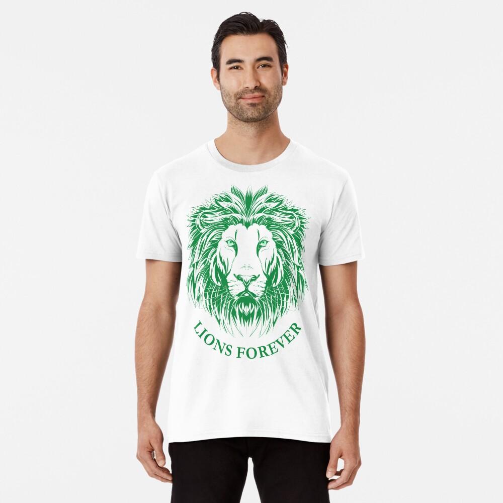 Lions Forever (Grün auf Weiß) Premium T-Shirt