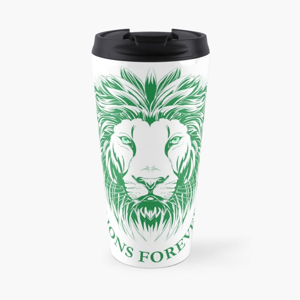 Lions Forever (Grün auf Weiß) Thermobecher