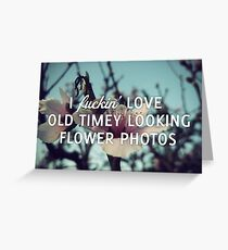 Old Timey Looking Flower Photos Greeting Card