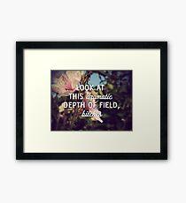 Dramatic Depth of Field Framed Print