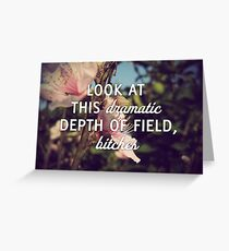 Dramatic Depth of Field Greeting Card