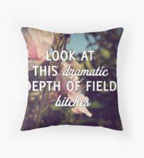 Dramatic Depth of Field Throw Pillow