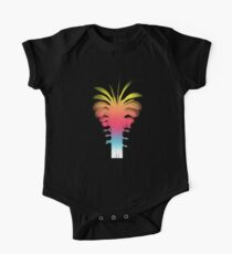 Rainbow Summery Palm Tree One Piece - Short Sleeve