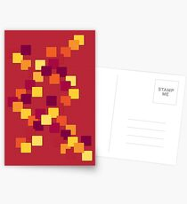 Falling leaves of colour Postcards
