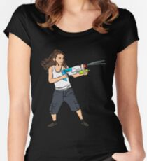 Super Kid  Women's Fitted Scoop T-Shirt