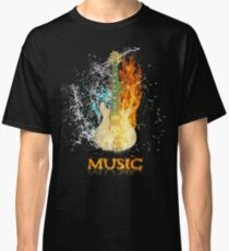 Electric guitar in the flame Classic T-Shirt