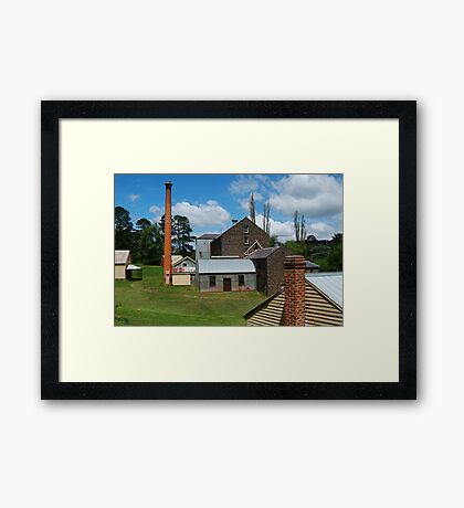 5 Chimney Stacks,Anderson's Mill,Smeaton, Victoria Framed Print
