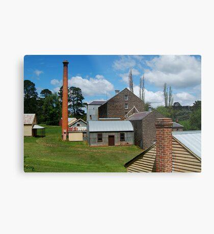 5 Chimney Stacks,Anderson's Mill,Smeaton, Victoria Metal Print