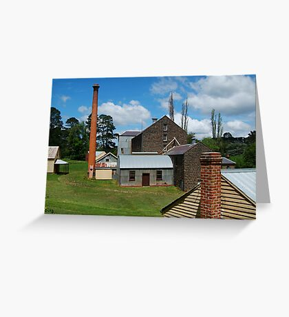 5 Chimney Stacks,Anderson's Mill,Smeaton, Victoria Greeting Card