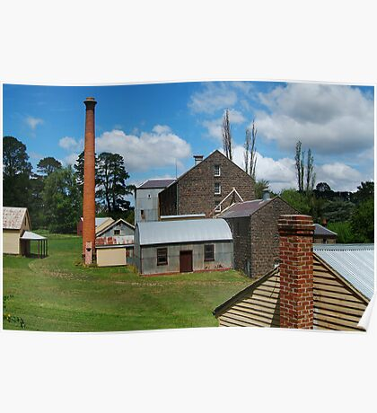 5 Chimney Stacks,Anderson's Mill,Smeaton, Victoria Poster