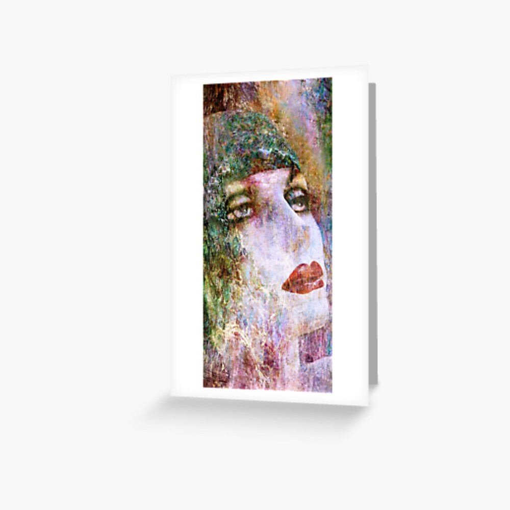 Coloured Woman Greeting Card