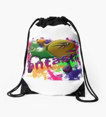 packman-wide Drawstring Bag