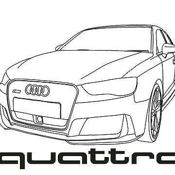 Audi RS3 8V Quattro outline by Holneub