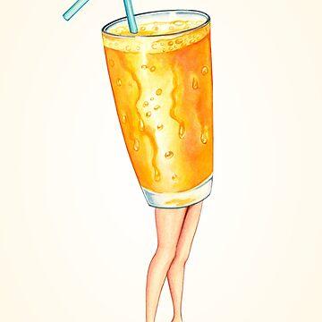 Orange Juice Pin-Up by KellyGilleran