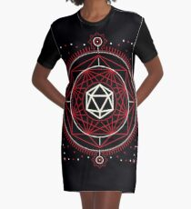 Polyhedral D20 Dice Tabletop RPG Gaming Graphic T-Shirt Dress