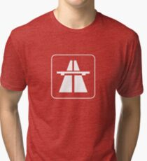 Autobahn tee (clear) Tri-blend T-Shirt