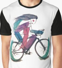 Bicycle Ridden By A Woman Graphic T-Shirt