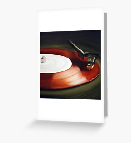 Record Red Greeting Card