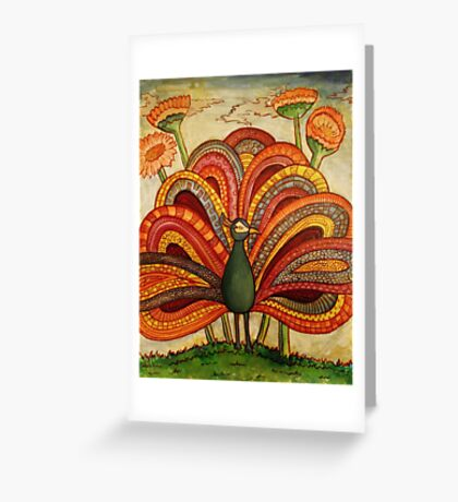 Peacock (full size) Greeting Card