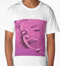 Vintage Glitch Pink Lady Long T-Shirt