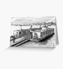 179 - HIGH FERRY, BLYTH - DAVE EDWARDS - INK 1990 Greeting Card
