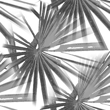 Grey on White Tropical Vibes  Beach Palmtree Vector by taiche