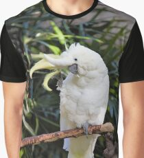 A Friendly Sulfur-Crested Cockatoo Salutes the Photographer Graphic T-Shirt