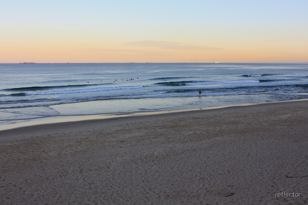 Sunset At Bar Beach by reflector