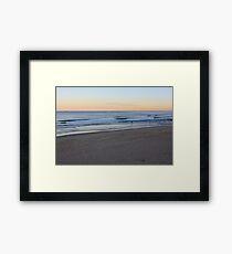 Sunset At Bar Beach Framed Print