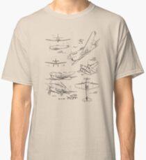 Aircraft Design Patent Prints Classic T-Shirt