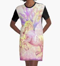 Dancing Unicorn Graphic T-Shirt Dress