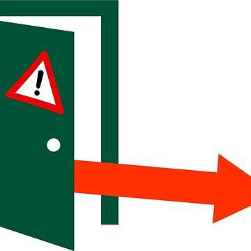 Emergency Door Release Sticker - Right Arrow by RonMarton