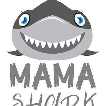 Mama Shark with a matching Papa Shark and Baby Shark by jazzydevil