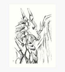 Dragon Drawing Art Print