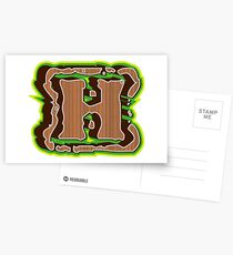 Alphabets - Wooden | YWZMNK 9 Postcards