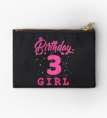 Pink Birthday Girl 3 Studio Pouch