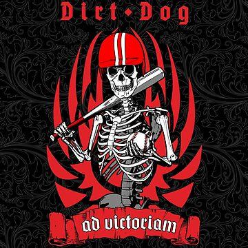 Dirt Dog Baseball Player Skeleton by GrandeDuc