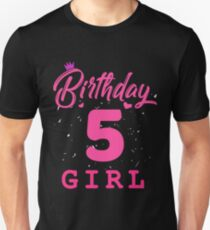 Pink Birthday Girl 5 Unisex T-Shirt