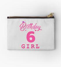 Pink Birthday Girl 6 Studio Pouch