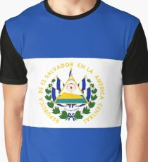 The Flag of El Salvador Graphic T-Shirt