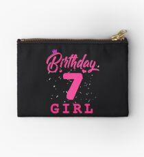 Pink Birthday Girl 7 Studio Pouch