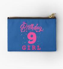 Pink Birthday Girl 9 Studio Pouch