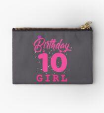 Pink Birthday Girl 10 Studio Pouch