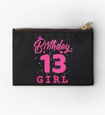 Pink Birthday Girl 13 Studio Pouch