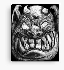 The Face of Horror 006 Canvas Print