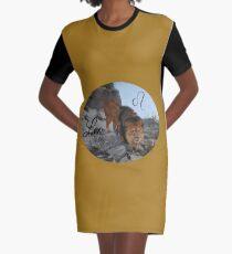 Leo Zodiac Sign Graphic T-Shirt Dress