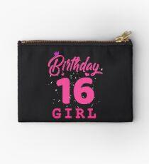 Pink Birthday Girl 16 Studio Pouch